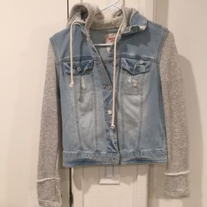 Jean Jacket with sweater attached